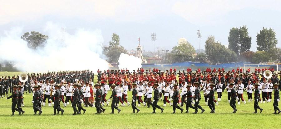 भित्र्याइयो फूलपाती, टुँडिखेलमा सेनाको गज्जबको बढाइँ (फोटोफिचर)