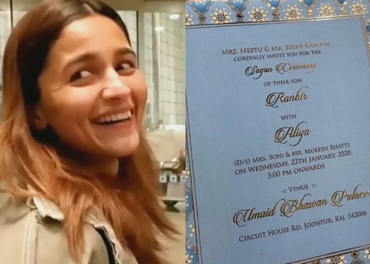 रणबीर र आलियाको विवाहको कार्ड भाइरल, २२ जनवरीमा विवाह !
