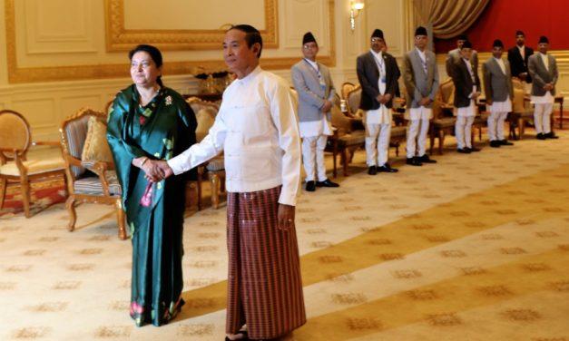 म्यानमारमा राष्ट्रपति भण्डारीको व्यस्तता (फोटो)