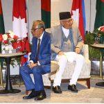 बङ्गलादेशी राष्ट्रपतिसँग उपराष्ट्रपति र प्रधानमन्त्रीको शिष्टाचार भेट