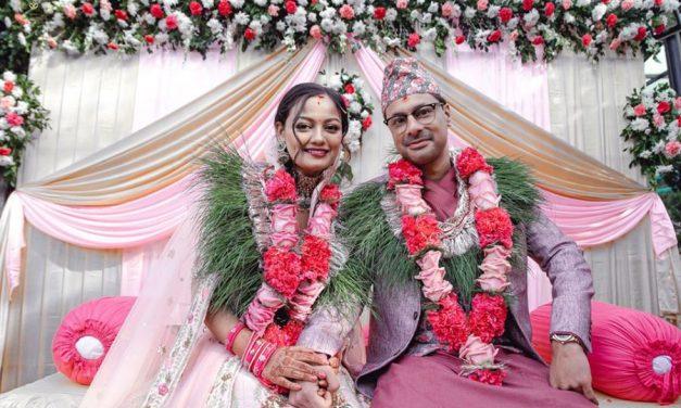 काठमाडौंमा ऋचा र दिपेक्षको विवाह, मागिन् आशिर्वाद
