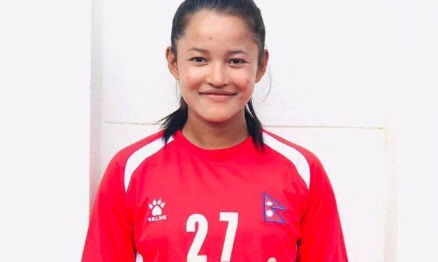 महिला फुटबलमा नेपाल विजयी, ८८औँ मिनेटमा सरुकाे गाेल