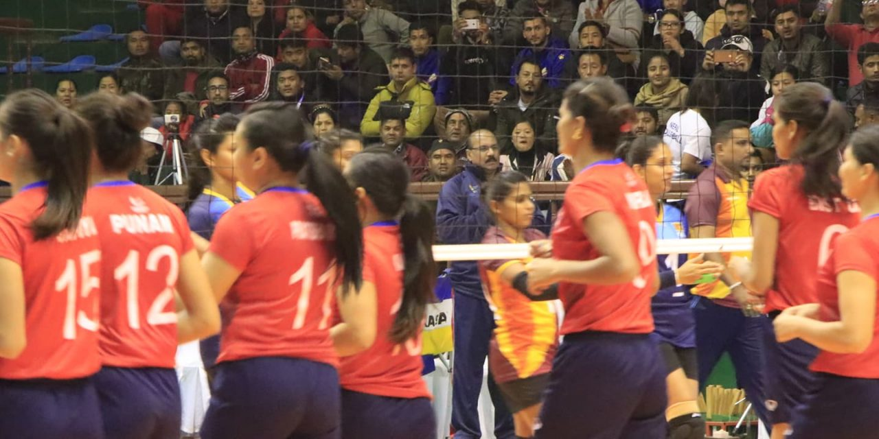 साग महिला भलिबलः भारतविरुद्ध नेपाल लगातार दुई सेटमा विजयी