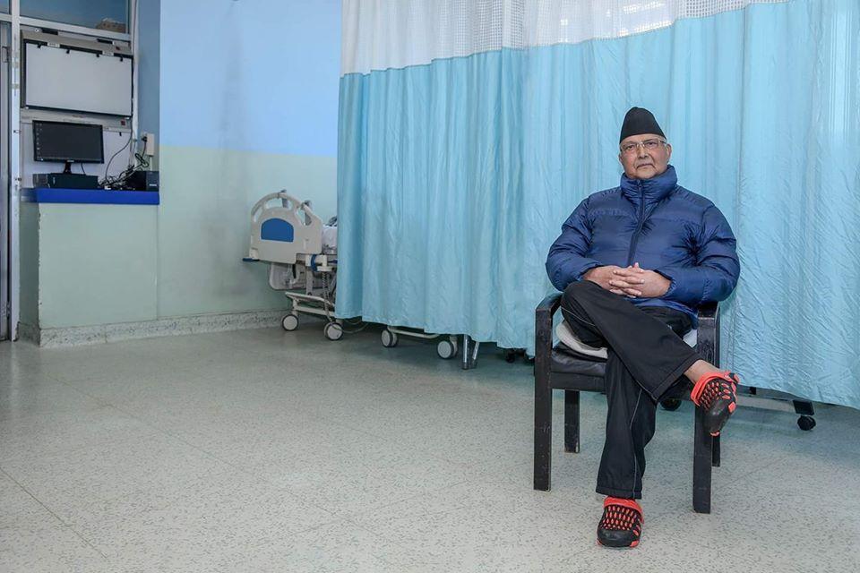 प्रधानमन्त्री ओलीलाई अस्पताल लगियो