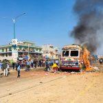 बालिकालाई ठक्कर दिएपछि ट्रक जलाईयो, कोहलपुर तनावग्रस्त